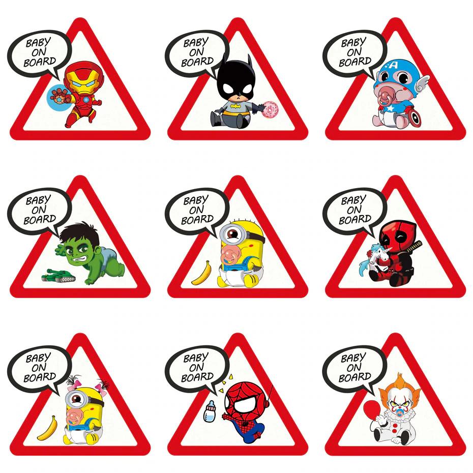 ¡Pegatinas 'Bebé a bordo' de super héroes por sólo 1,52€! Envío gratis