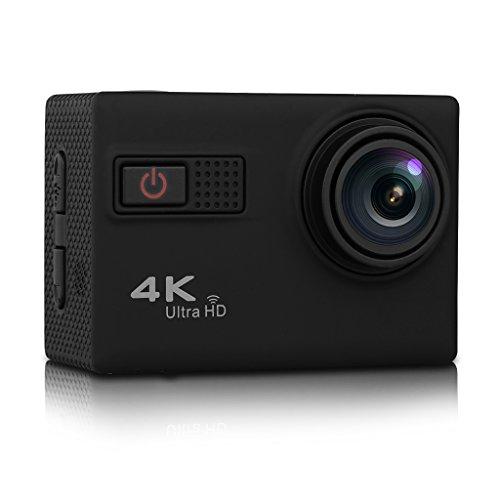 "F68 - DV Cámara Deportiva de Acción 4K 24FPS (Full HD LCD 2.0"", 170° Gran Angular, Novatek 96660, 20MP, H.264, Impermeable 30m, WIFI USB HDMI, H.264, Vision Nocturna) (Negro)"