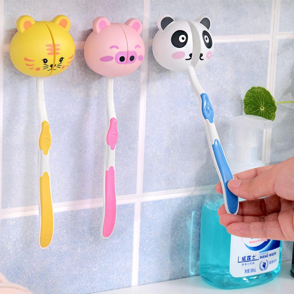 Animalitos para colgar los cepillos de dientes en la pared