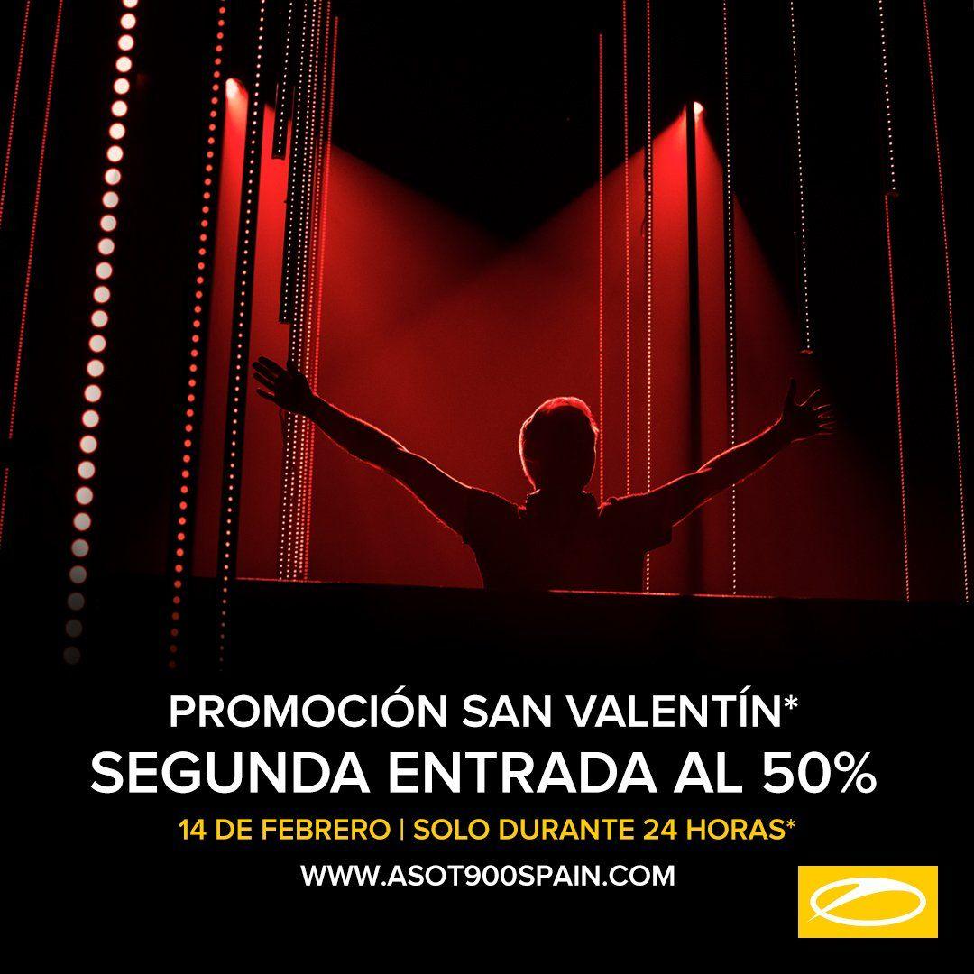Promoción San Valentín ASOT Festival Madrid, 50% segunda entrada