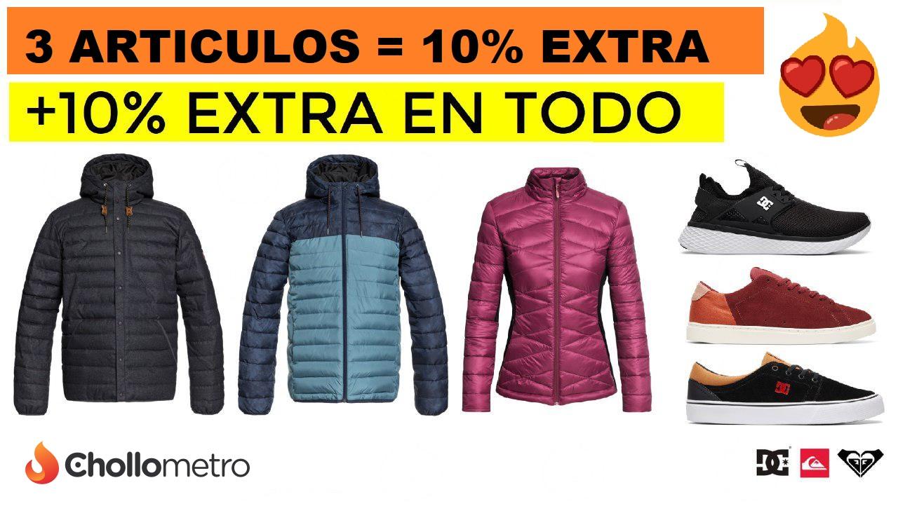 Rebajas en Roxy, Quiksilver y DC - 10% Extra al comprar 3 art. + 10% sobre el total
