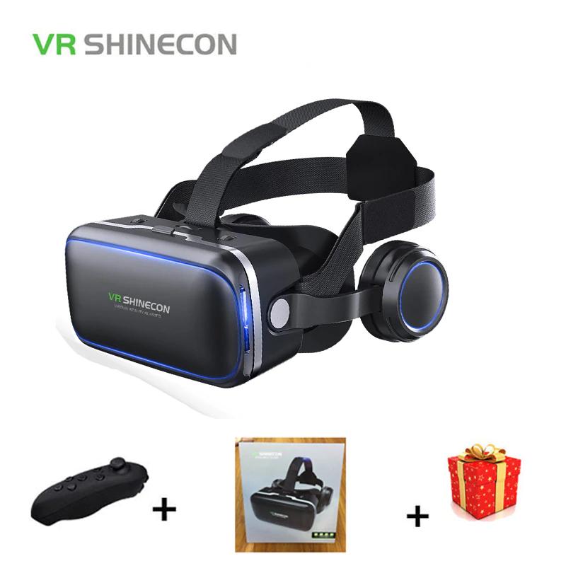 Casco VR Shinecon 6,0 + Controlador Remoto Para Teléfono Inteligente