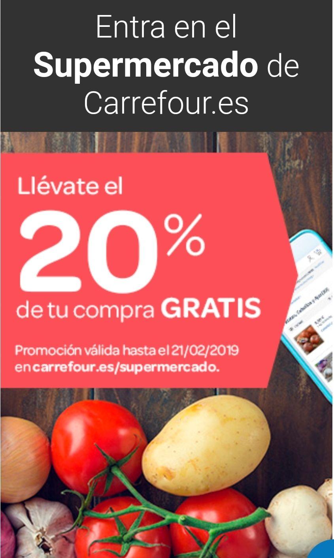 20% gratis en compra online carrefour