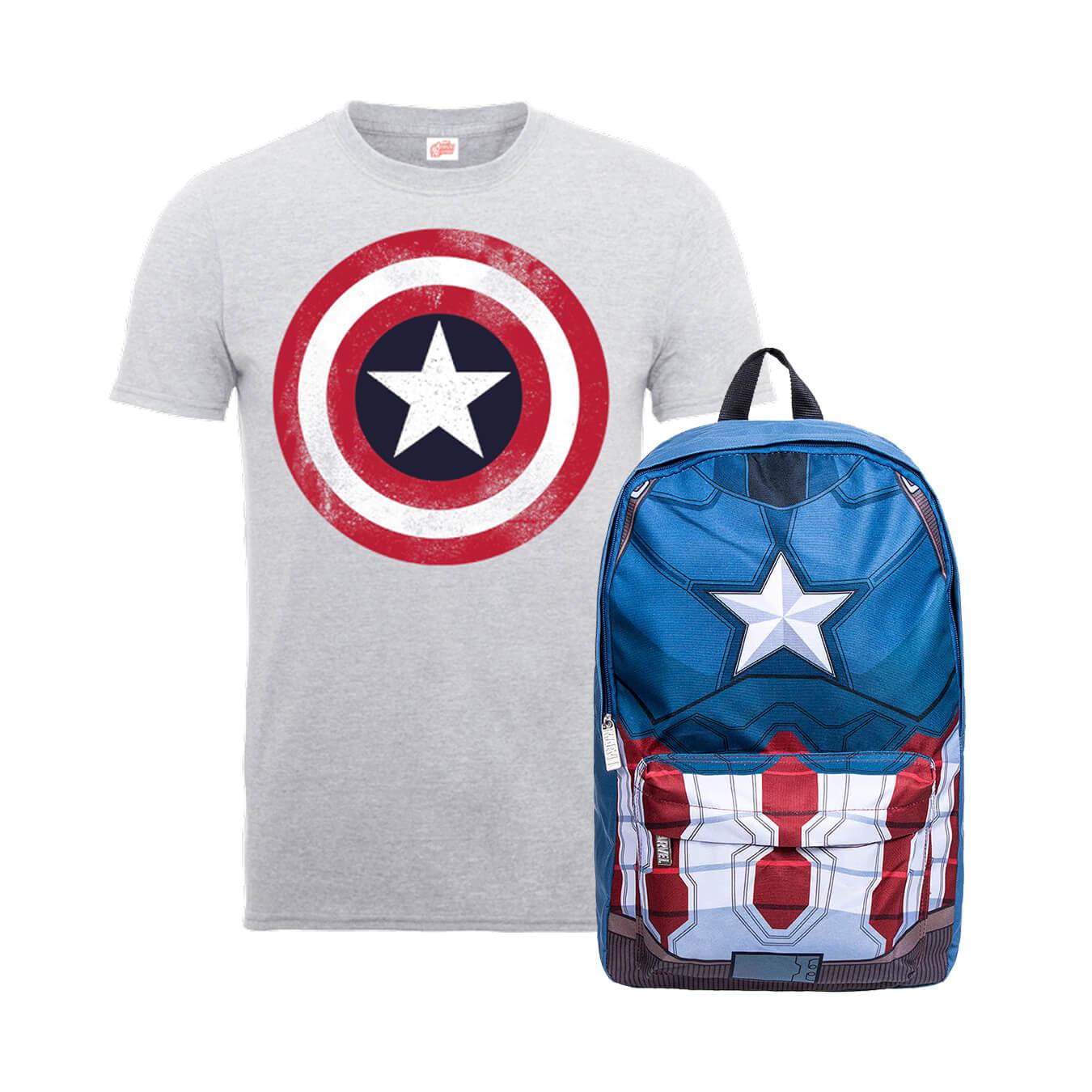 Pack Capitán América: Camiseta + Mochila