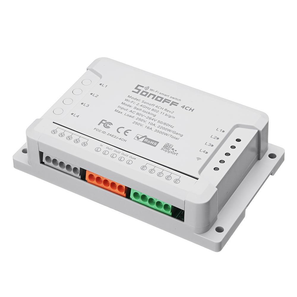 Interruptor wifi de 4 canales SONOFF 4CH R2