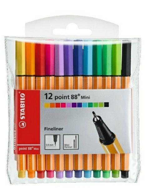 Rotulador puntafina STABILO point 88 mini - Estuche con 12 colores [ NO PRODUCTO PLUS ]
