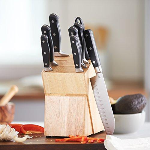 Juego de cuchillos de cocina y soporte (9 piezas) AmazonBasics