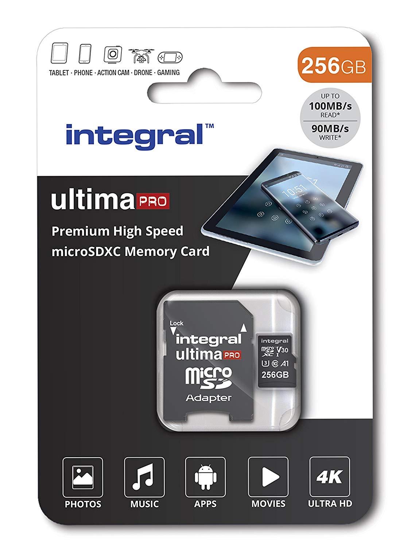 Tarjeta de Memoria Micro SDXC de Alta Velocidad (256 GB, Incluye Adaptador SD)
