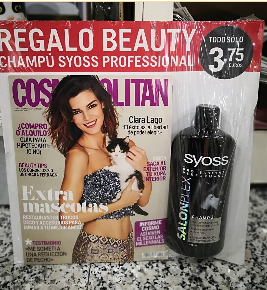 Champú Syoss (500ml) Gratis con revista Cosmopolitan y más cosicas