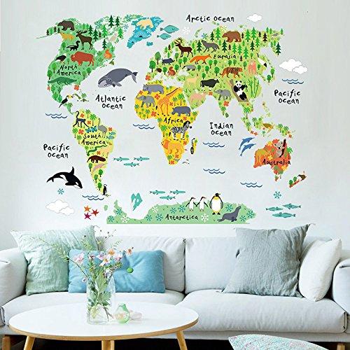 ¡Precioso vinilo de pared Mapa Mundi por sólo 2,99€! Envío gratis