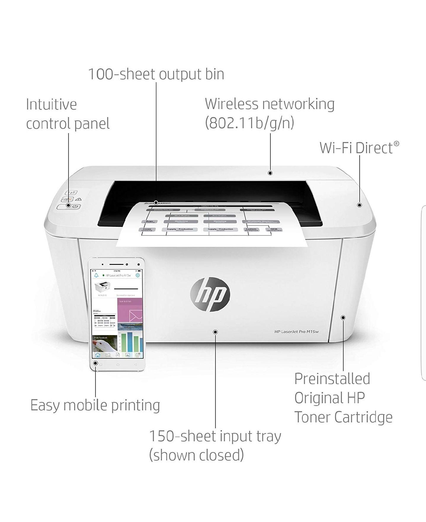 HP Laserjet Pro M15w - Impresora láser