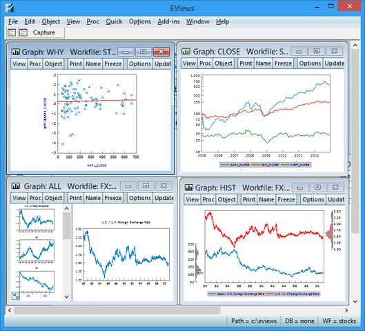 Econometría # 1: Modelado de Regresión, Estadísticas con EViews (6:23h, 46 clases)