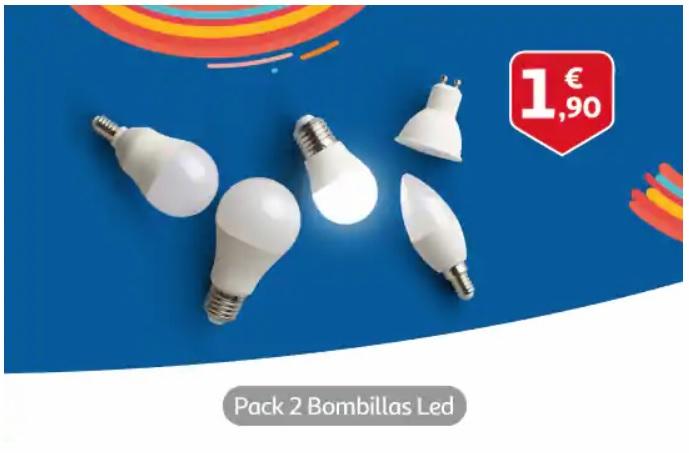 2 x Bombillas Led 6w Alcampo