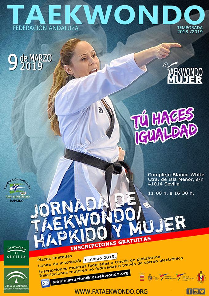 Jornada de Taekwondo+almuerzo GRATUITO para mujeres en Sevilla