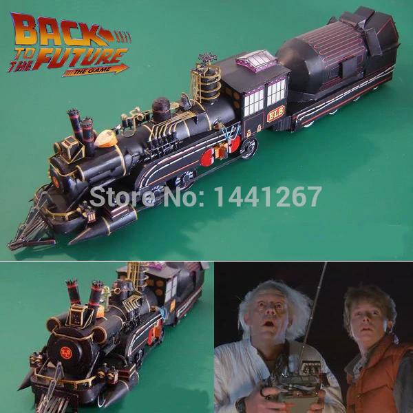 Modelo Papel Tren Regreso al Futuro 3