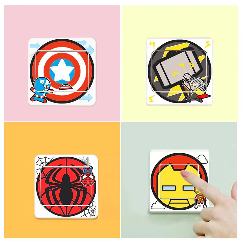 Pegatinas Superheroes Interruptor de la luz (pack 6)