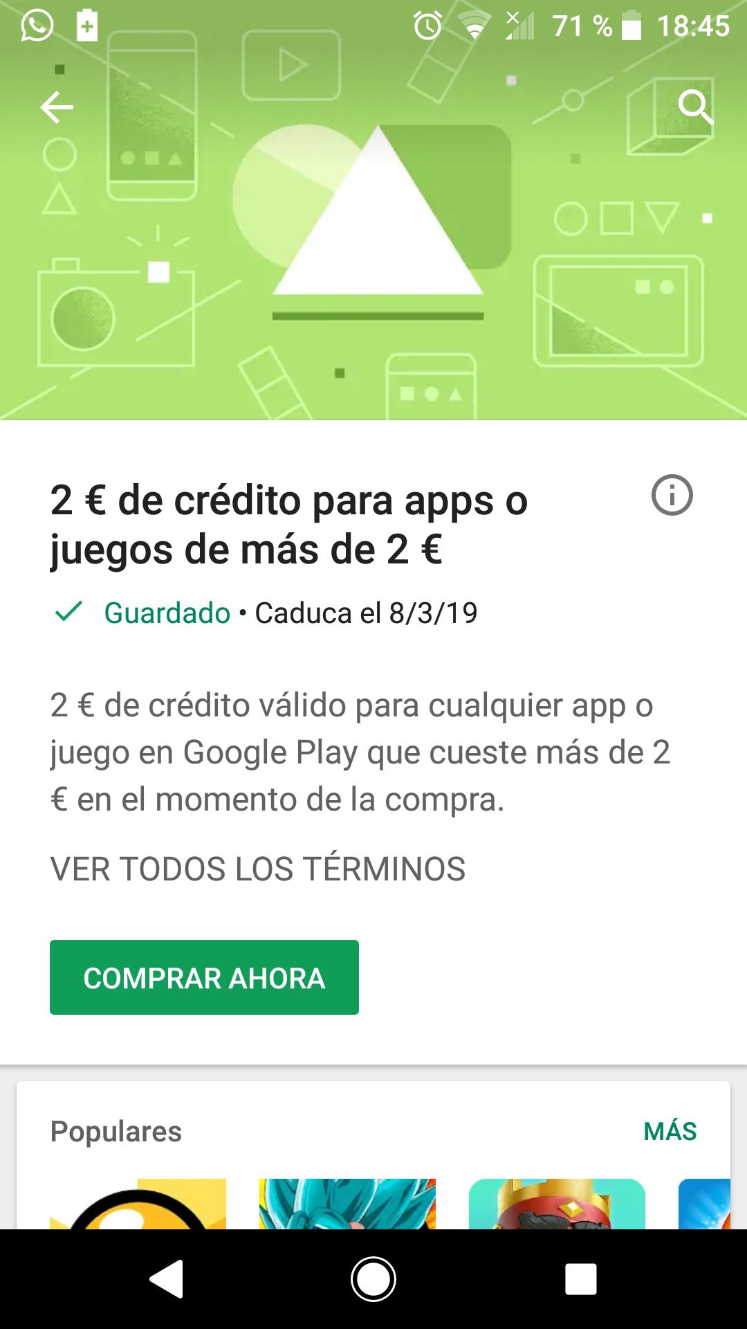 Cupón 2€ Google Play | Cuentas Seleccionadas