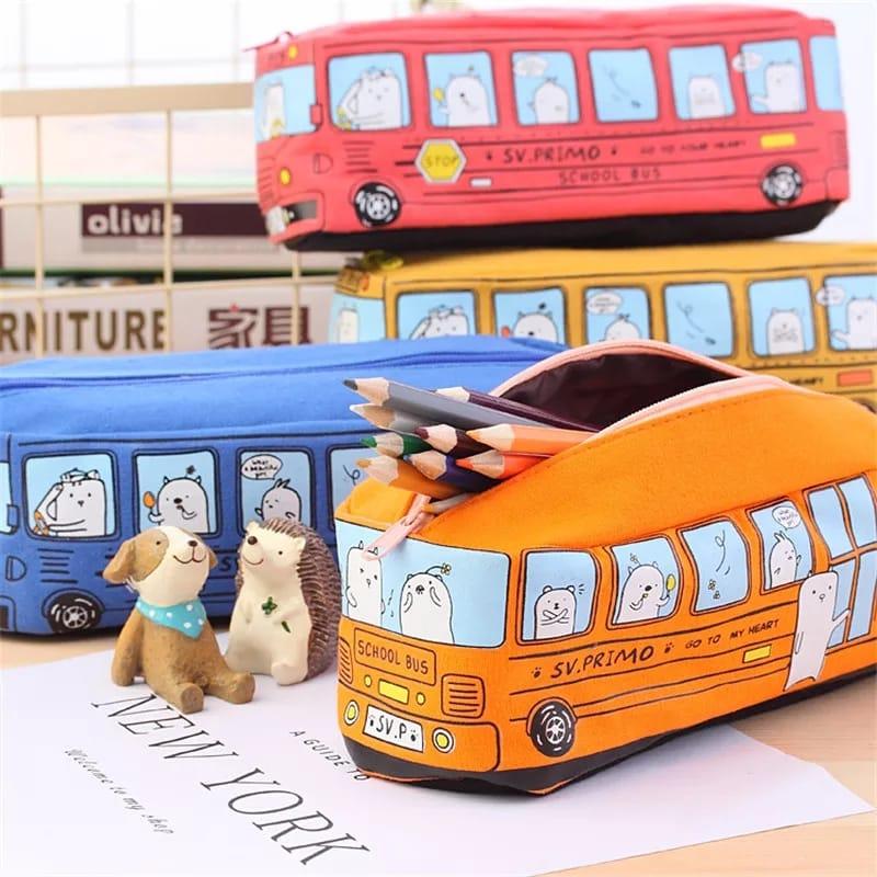 ¡Estuche con forma de Autobús por 1,48€! Envío gratis