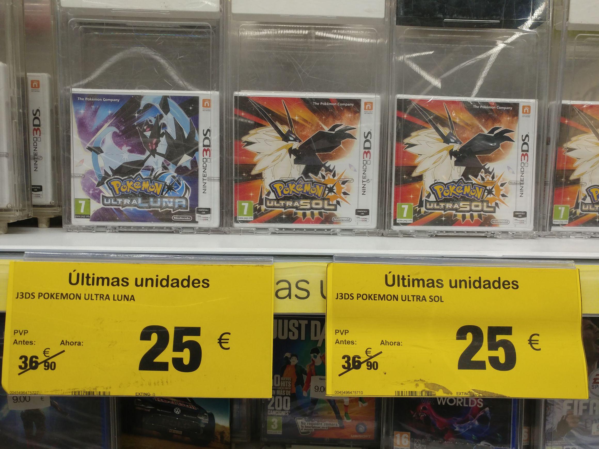 Pokemon Ultra Sol y Ultra Luna (Carrefour Alameda Malaga)