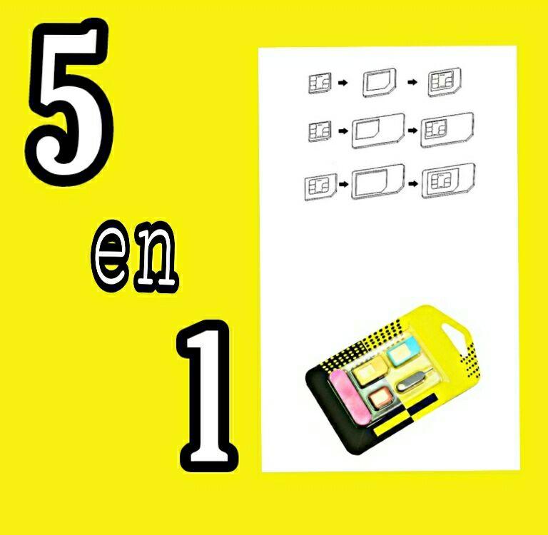 Adaptador para tarjeta sim 5 en 1