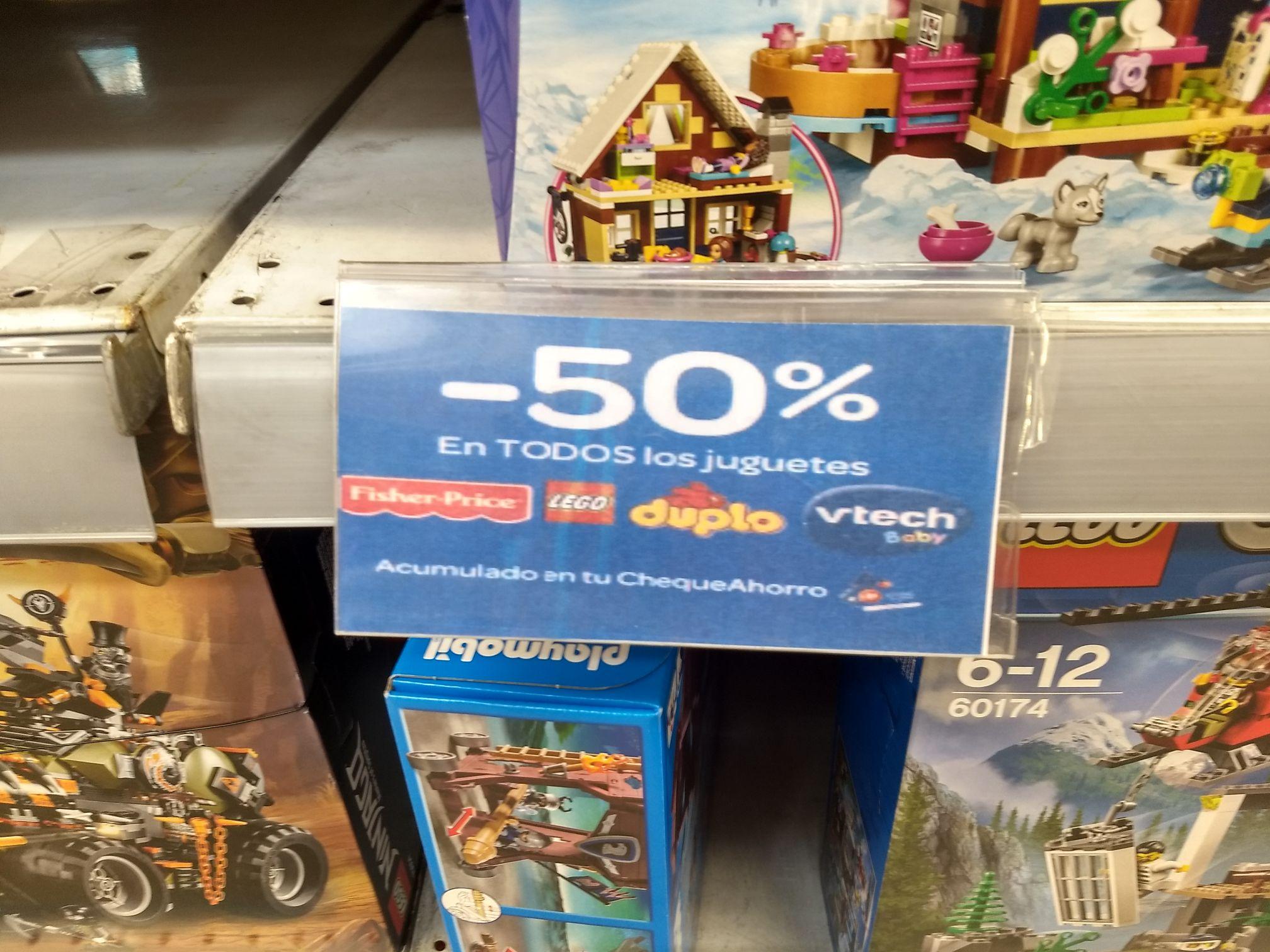 Lego 50% devuelto en cheque ahorro Carrefour