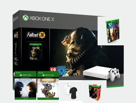 Xbox One X  + Fallout 76 + Halo 5 + Kingdom Hearts III + Rare Replay + Camiseta + Tritton Kama