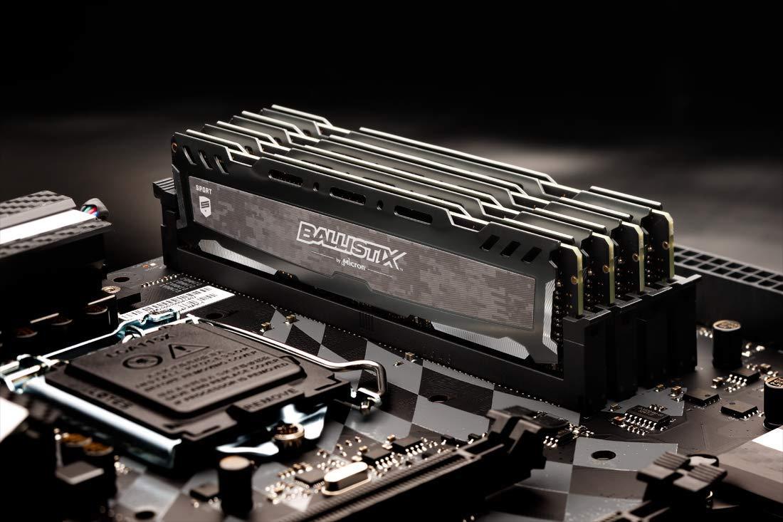 Pack RAM Ballistix Sport LT - 32GB (8GB x4, DDR4, 3000 MT/s, PC4-24000, Single Rank x8)