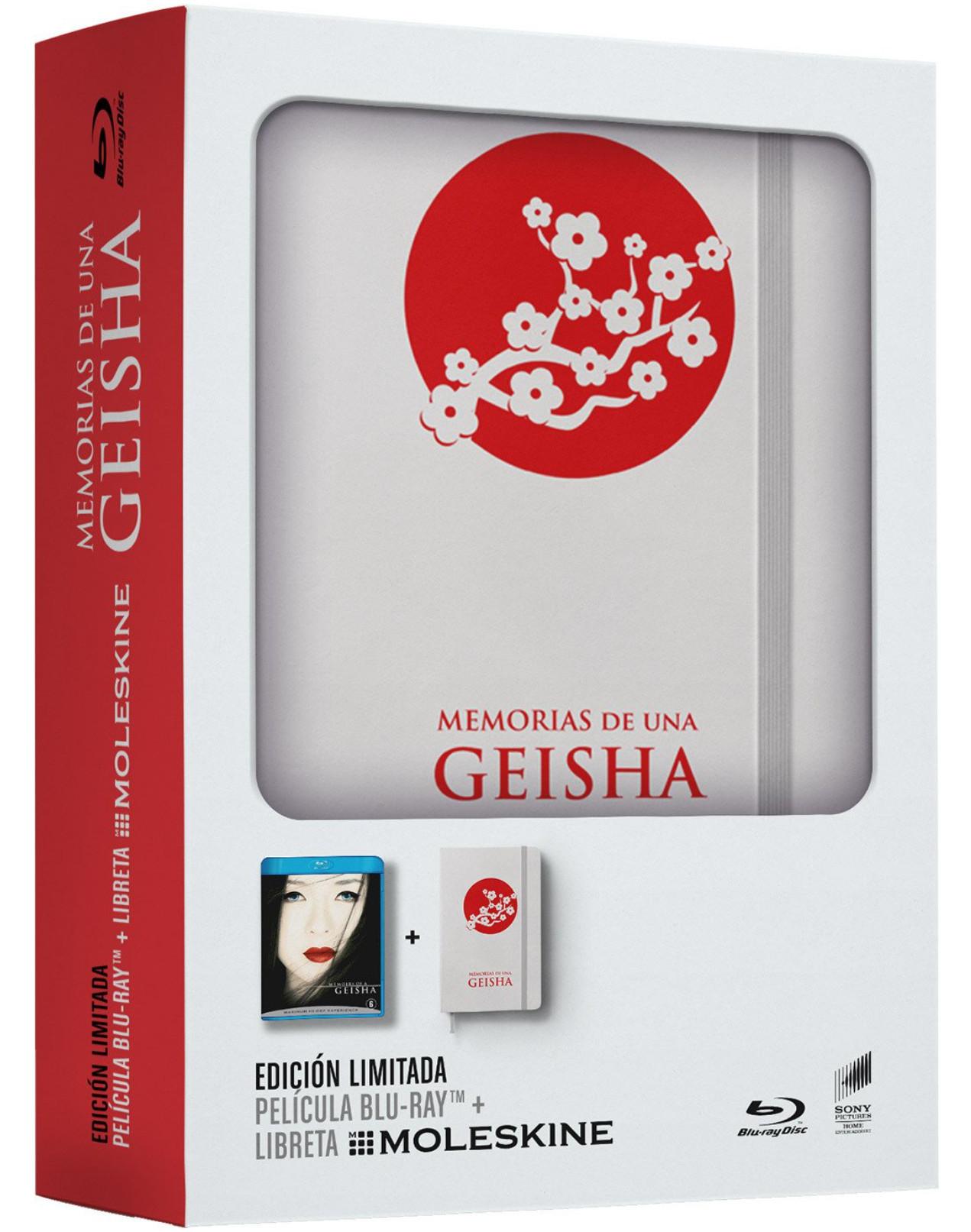 Amazon y Fnac: Memorias De Una Geisha Blu-ray + Libreta Moleskine (Edición Limitada)
