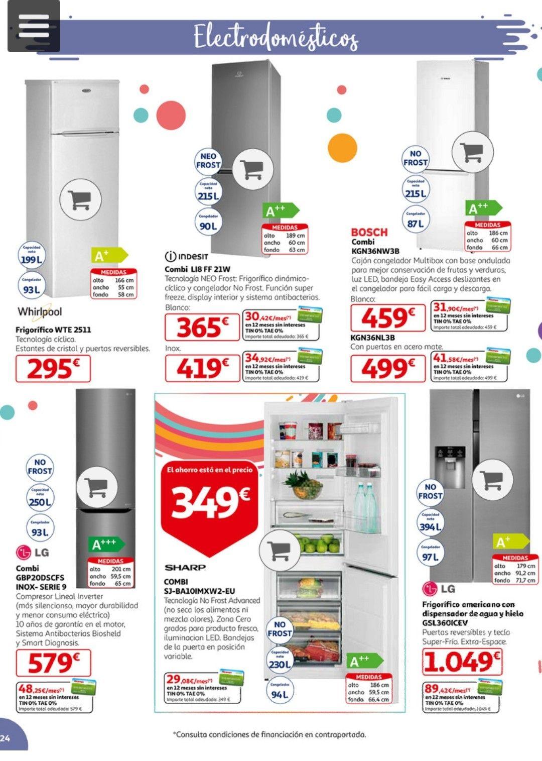 Neveras, Combis y otros electrodomésticos para el hogar en Alcampo Diagonal Mar