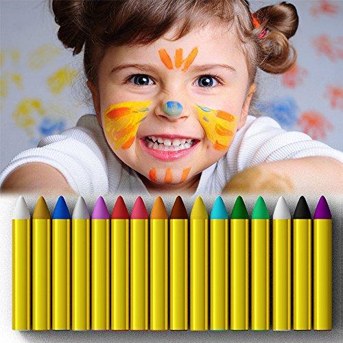 JamBer crayones de pintura de cara 16 colores