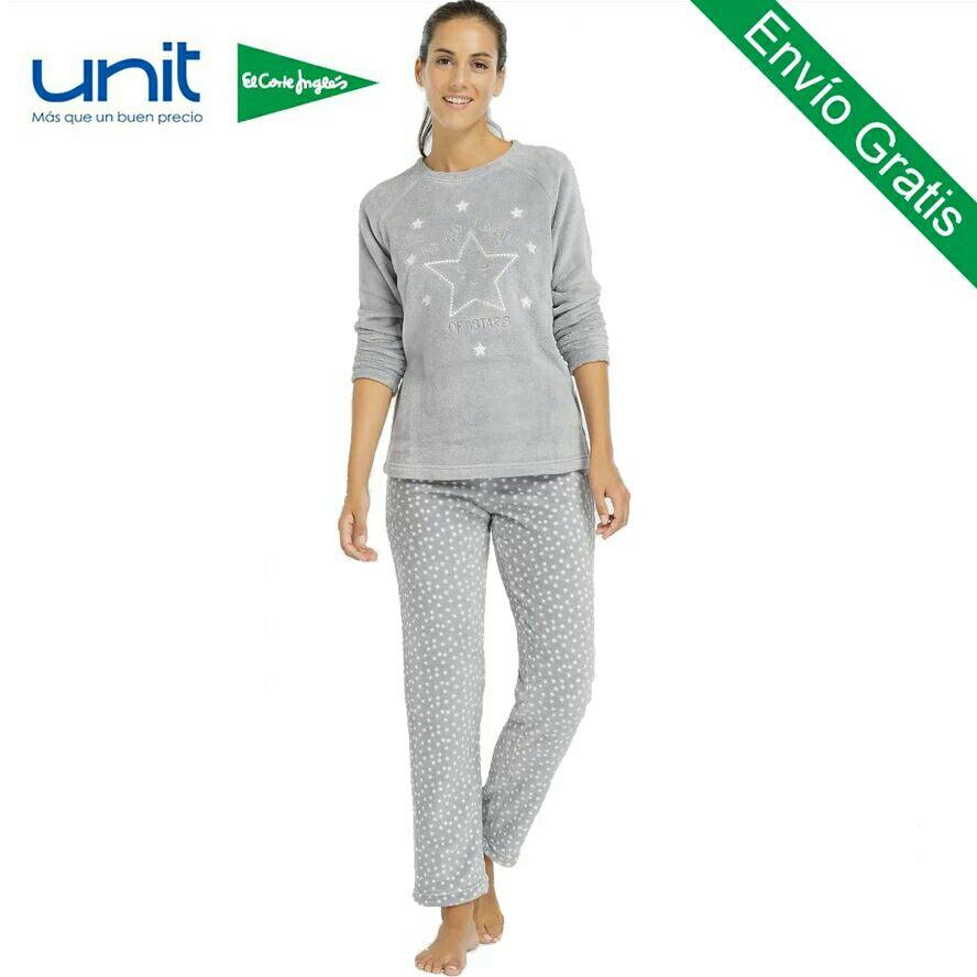 Pijama de franela gris para chicas