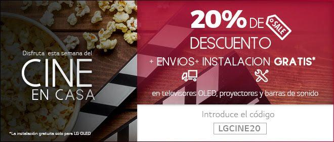20% descuento en LG (televisores OLED, proyectores y barras de sonido)