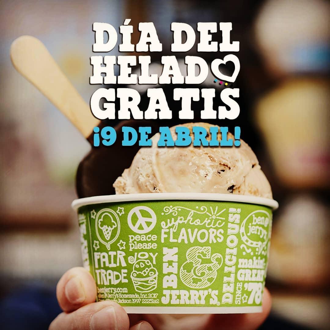 Helado GRATIS Ben & Jerrys