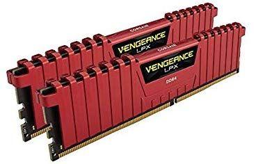 Corsair Vengeance LPX - 16 GB (2 x 8 GB, DDR4, 3200 MHz, C16) Color Rojo