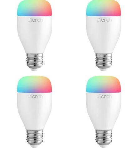4 bombillas led Utorch LE7 E27 WiFi Smart