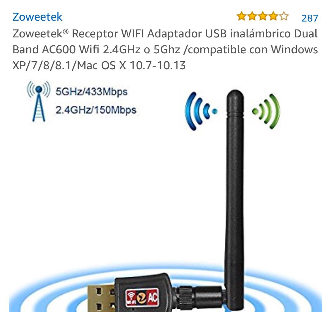 Receptor Wifi USB con Antena