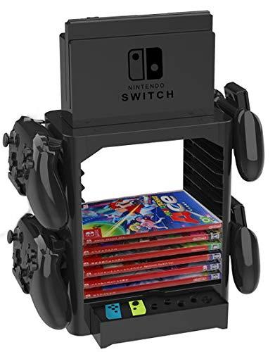 Homebase para Nintendo Switch Bases incl. Cajón, Espacio para el Mando y Juegos