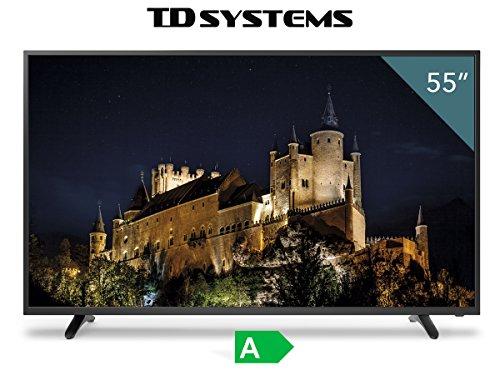 """TV Full HD TDSystems 55"""" Pulgadas (Resolución 1920x1080/HDMI 3/VGA 1/Eur 1/USB Reproductor y grabador) [Clase de eficiencia energética A]"""