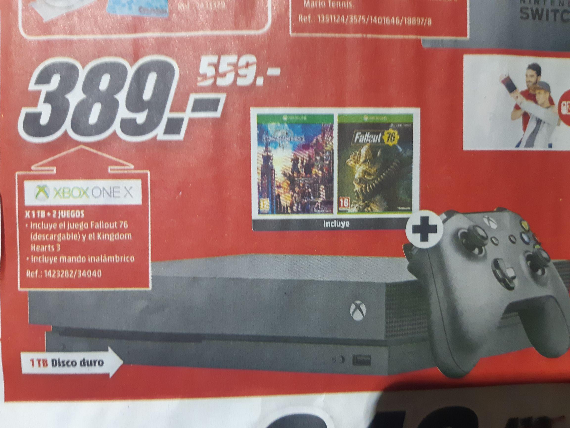 Xbox one x con Fallout 76 y kingdom Hearts 3 de regalo