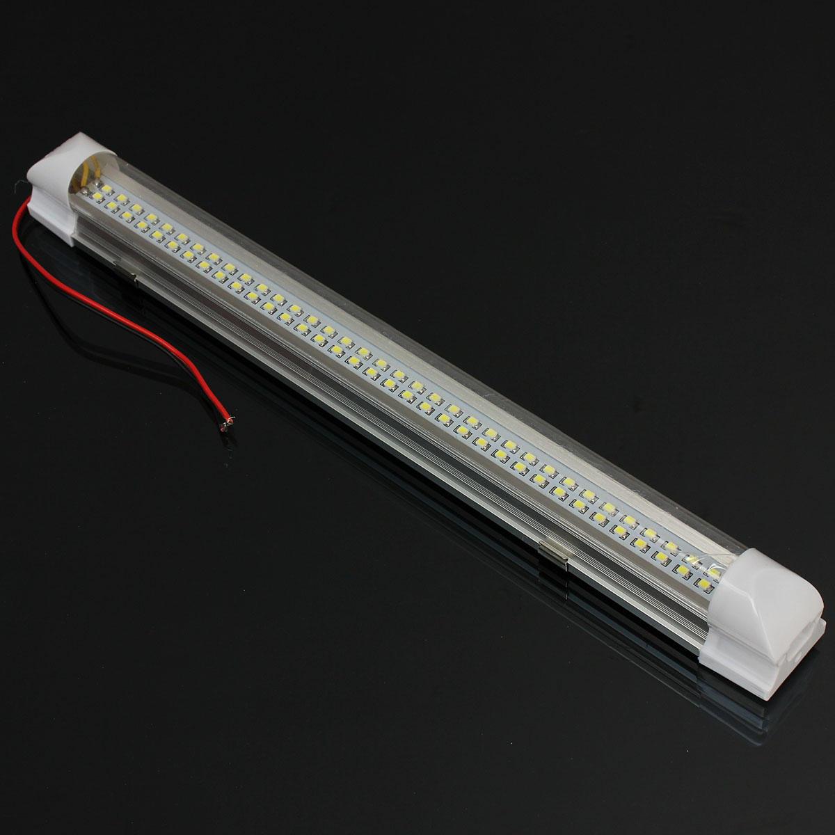 Universal interior 34 cm Tira de luz LED de la lámpara blanca con el interruptor ON / OFF