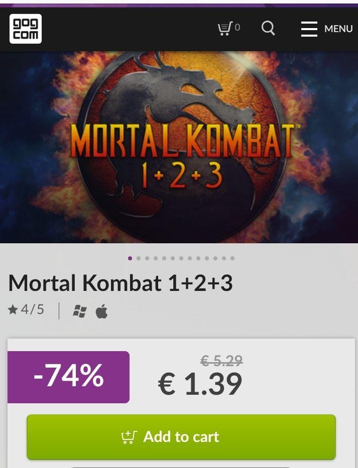 Mortal Kombat 1+2+3 a precio de risa PC