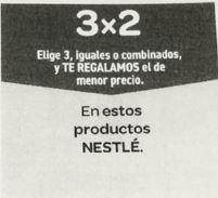 3 X 2 En productos Nestle