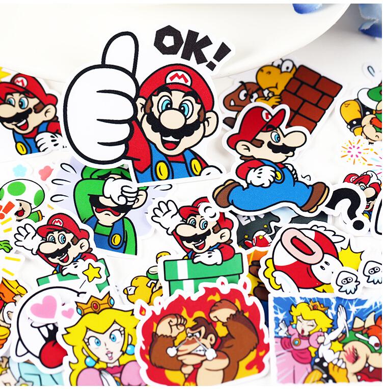 ¡24 pegatinas Mario Bros por sólo 2,24€! Envío gratis