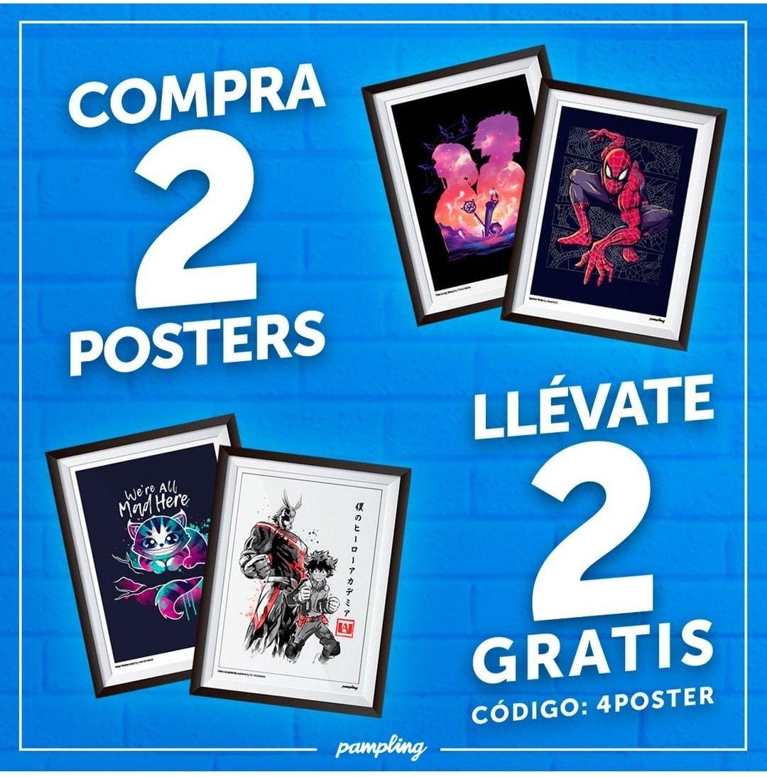 Llevate 4 posters por el precio de 2 - Pampling