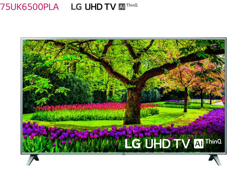 "TV LED 75"" - LG 75UK6500PLA, UHD 4K 3xHDR, Panel IPS, AI Smart TV ThinQ webOS 4.0"