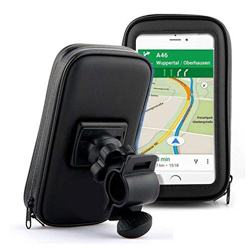 Soporte bicicleta y motocicleta con bolsa de protección para Smartphone