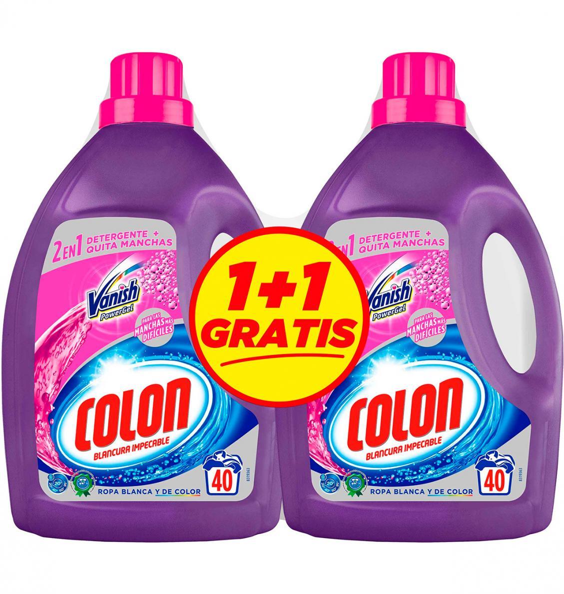 1+1 Gratis Detergente Colon Vanish 80 lavados