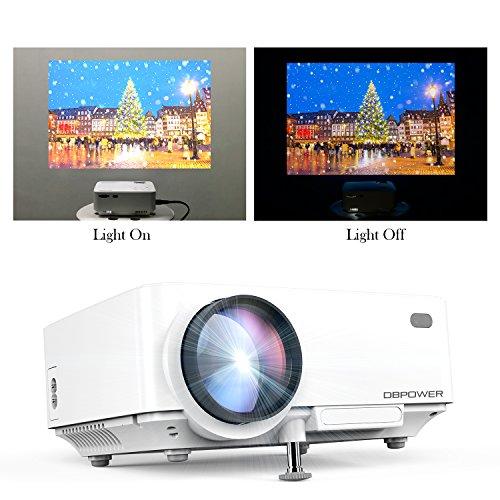 Proyector, T20 Mini Proyector LCD de 1500 Lúmenes