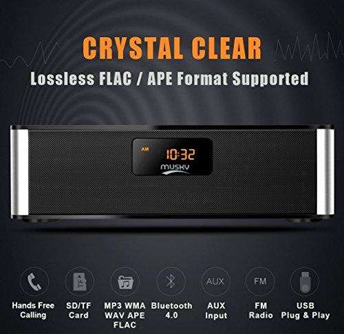 Altavoces Bluetooth, XPLUS All-in-1 portatiles HiFi estéreo V4.0
