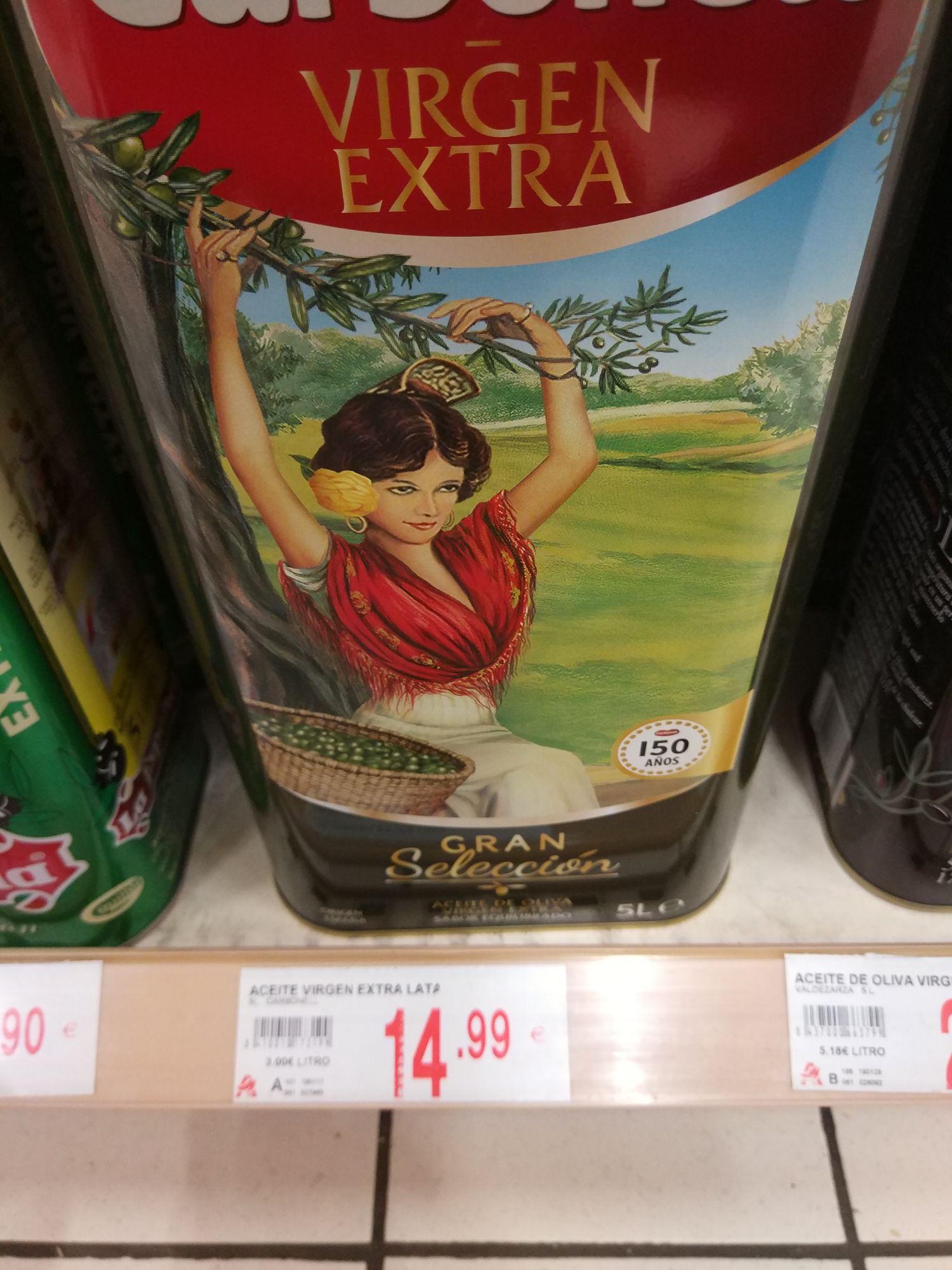 Aceite de oliva virgen extra Carbonell gran selección 5l